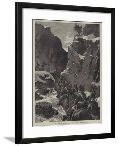 The Afghan War, the 10th Bengal Lancers in the Jugdulluk Pass--Framed Art Print