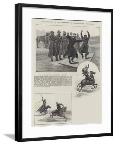 Don Cossacks at the International Horticultural Exhibition--Framed Art Print