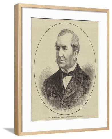 The Late Sir Thomas Henry, Chief Magistrate of Bow-Street--Framed Art Print
