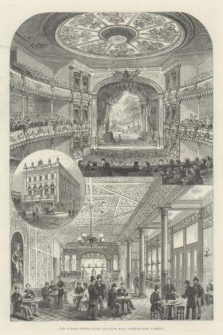 The Victoria Coffee Palace and Music Hall, Waterloo-Road, Lambeth--Stretched Canvas Print