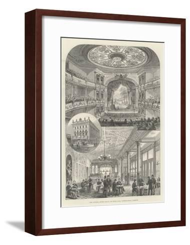 The Victoria Coffee Palace and Music Hall, Waterloo-Road, Lambeth--Framed Art Print