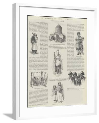 Mrs Bishop's Travels in Persia, by the Honourable George Curzon--Framed Art Print
