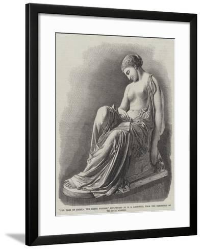 The Task of Erinna, the Greek Poetess, Sculptured by H S Leifchild--Framed Art Print