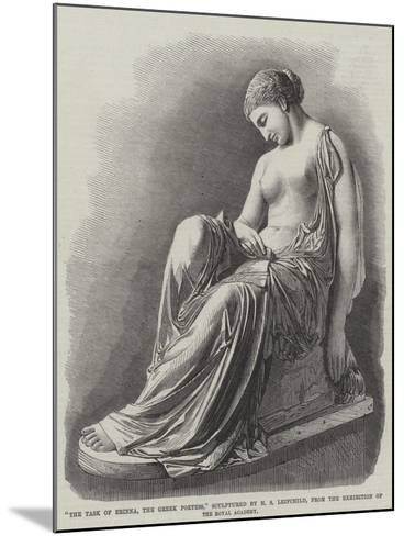 The Task of Erinna, the Greek Poetess, Sculptured by H S Leifchild--Mounted Giclee Print