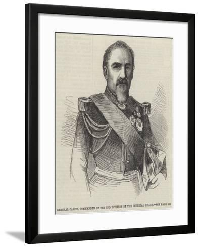 General Camou, Commander of the 2nd Division of the Imperial Guard--Framed Art Print