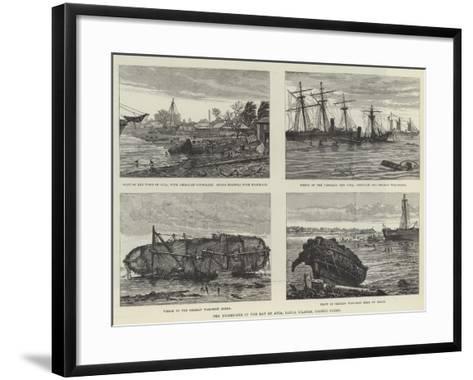 The Hurricane in the Bay of Apia, Samoa Islands, Pacific Ocean--Framed Art Print