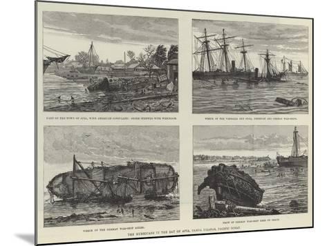 The Hurricane in the Bay of Apia, Samoa Islands, Pacific Ocean--Mounted Giclee Print