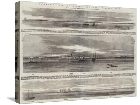 Panoramic View of Sulina, and the Adjacent Coast, HMS Retribution--Stretched Canvas Print
