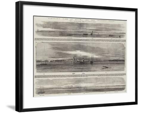 Panoramic View of Sulina, and the Adjacent Coast, HMS Retribution--Framed Art Print