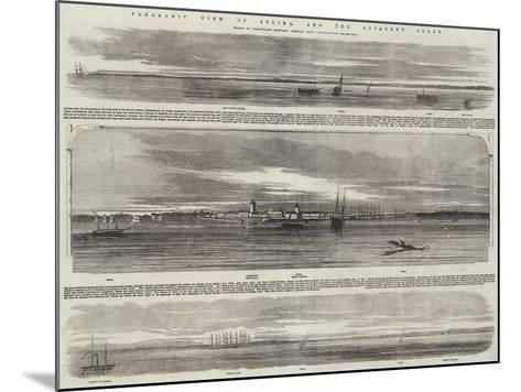 Panoramic View of Sulina, and the Adjacent Coast, HMS Retribution--Mounted Giclee Print