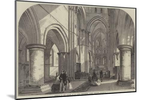 Interior of the Church of St Cross, Winchester, Lately Restored--Mounted Giclee Print