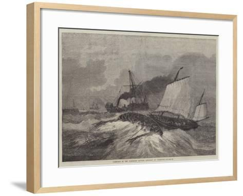 Upsetting of the Gorleston Salvage Life-Boat at Yarmouth--Framed Art Print