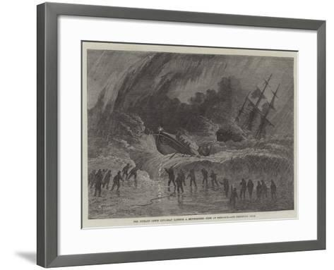 The Richard Lewis Life-Boat Landing a Shipwrecked Crew at Penzance--Framed Art Print