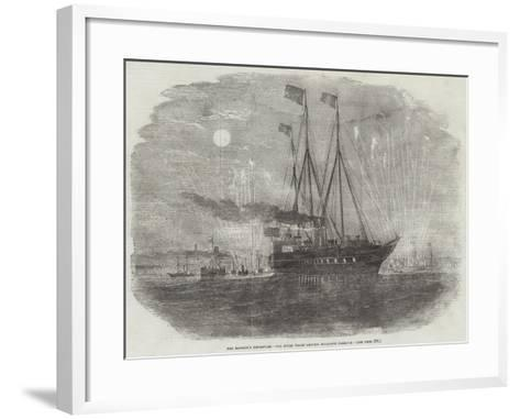 Her Majesty's Departure, the Royal Yacht Leaving Boulogne Harbour--Framed Art Print