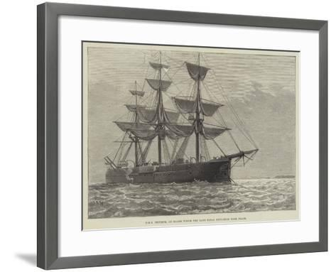HMS Triumph, on Board Which the Late Fatal Explosion Took Place--Framed Art Print