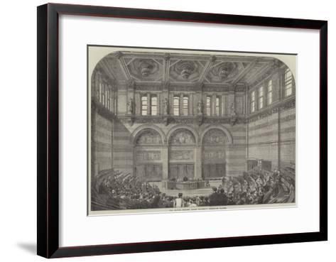 The Lecture Theatre, London University, Burlington Gardens--Framed Art Print