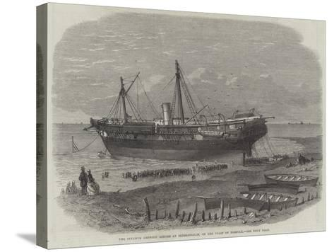 The Steamer Amphion Ashore at Sherringham, on the Coast of Norfolk--Stretched Canvas Print