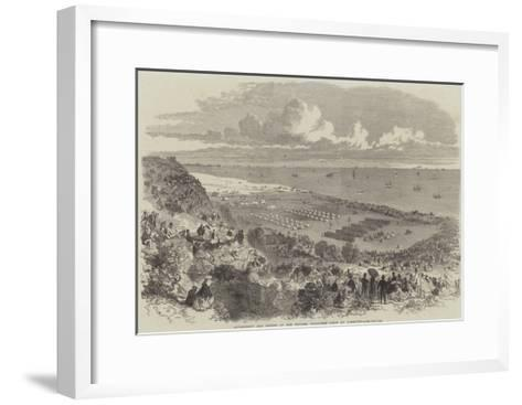 Encampment and Review of the Suffolk Volunteer Corps at Lowestoft--Framed Art Print