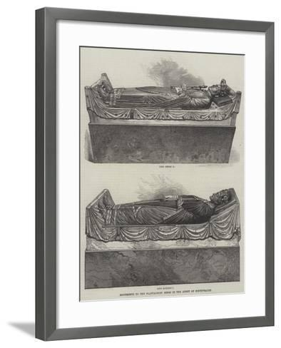 Monuments to the Plantagenet Kings in the Abbey of Fontevrault--Framed Art Print