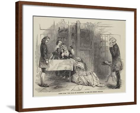 Scene from The Vicar of Wakefield, at the New Strand Theatre--Framed Art Print