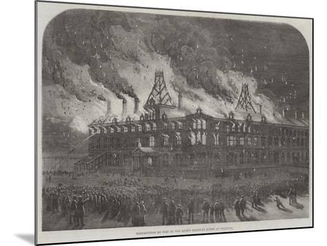 Destruction by Fire on the Queen Railway Hotel at Chester--Mounted Giclee Print