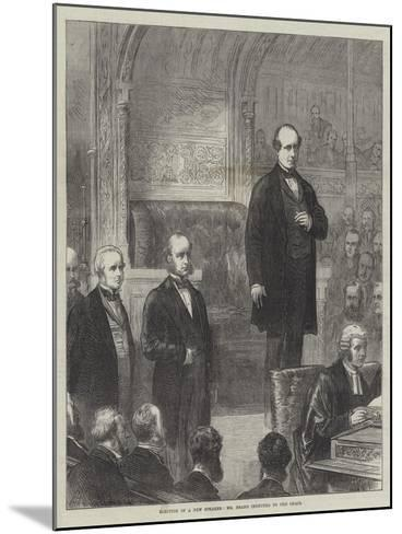 Election of a New Speaker, Mr Brand Inducted to the Chair--Mounted Giclee Print