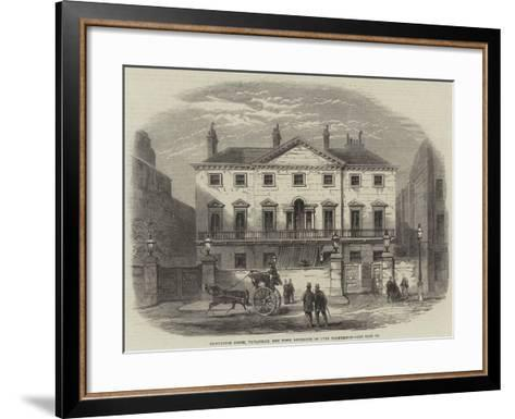 Cambridge House, Piccadilly, the Town Residence of Lord Palmerston--Framed Art Print
