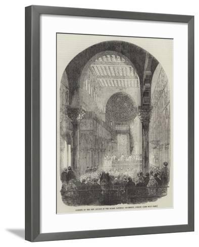 Opening of the New Church at the Roman Catholic University, Dublin--Framed Art Print