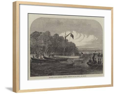 Starting of the Livingstone Searching Expedition on the Zambesi--Framed Art Print
