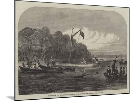 Starting of the Livingstone Searching Expedition on the Zambesi--Mounted Giclee Print