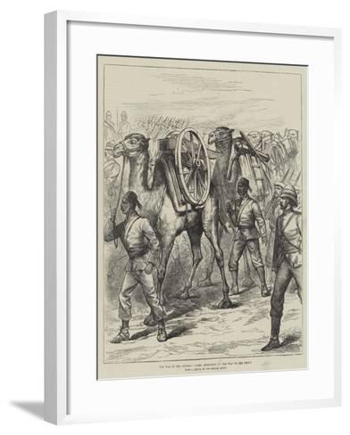 The War in the Soudan, Camel Artillery on the Way to the Front--Framed Art Print