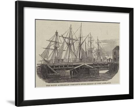 The South Australian Company's Swing-Bridge at Port Adelaide--Framed Art Print
