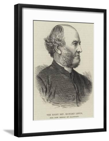 The Right Reverend Richard Lewis, the New Bishop of Llandaff--Framed Art Print