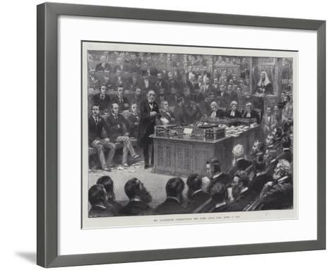 Mr Gladstone Introducing the Home Rule Bill, 8 April 1886--Framed Art Print