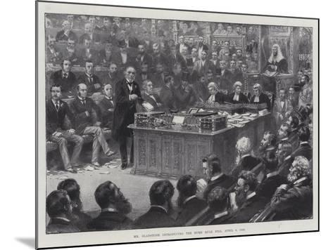 Mr Gladstone Introducing the Home Rule Bill, 8 April 1886--Mounted Giclee Print
