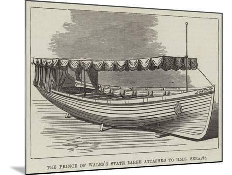The Prince of Wales's State Barge Attached to HMS Serapis--Mounted Giclee Print