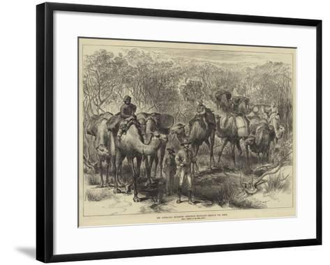 The Australian Exploring Expedition Travelling Through the Scrub--Framed Art Print