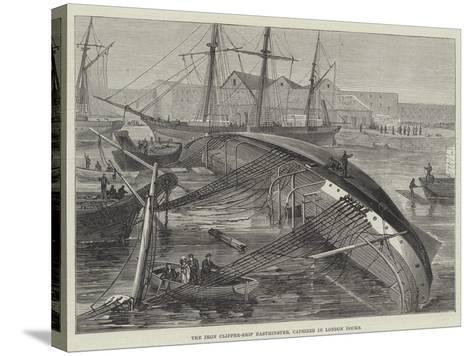 The Iron Clipper-Ship Eastminster, Capsized in London Docks--Stretched Canvas Print