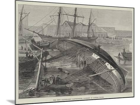 The Iron Clipper-Ship Eastminster, Capsized in London Docks--Mounted Giclee Print