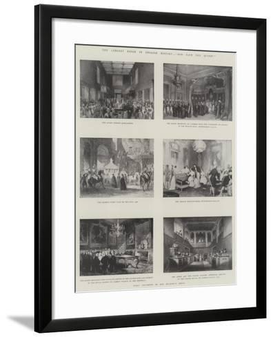 The Longest Reign in English History, God Save the Queen!--Framed Art Print