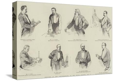 Sketches at the Conversazione of the Royal Society, 8 May--Stretched Canvas Print