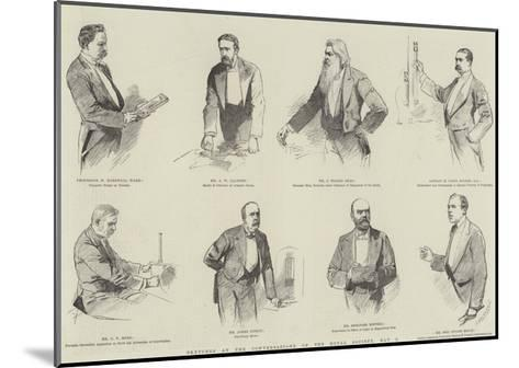 Sketches at the Conversazione of the Royal Society, 8 May--Mounted Giclee Print