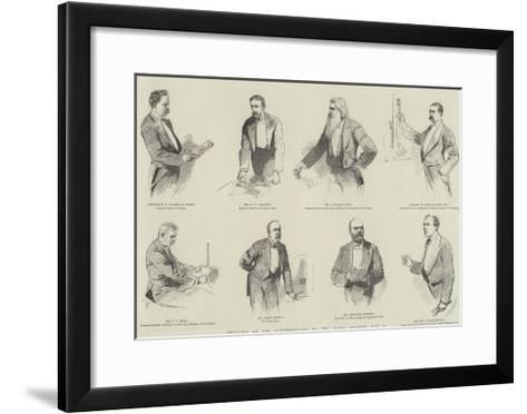 Sketches at the Conversazione of the Royal Society, 8 May--Framed Art Print