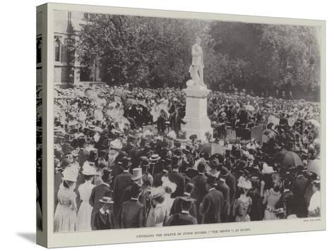 Unveiling the Statue of Judge Hughes (Tom Brown) at Rugby--Stretched Canvas Print