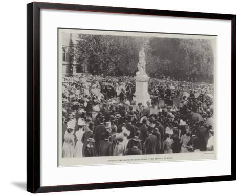 Unveiling the Statue of Judge Hughes (Tom Brown) at Rugby--Framed Art Print