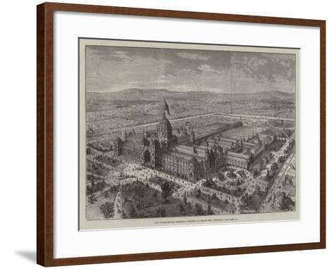 The International Exhibition Building at Melbourne, Australia--Framed Art Print