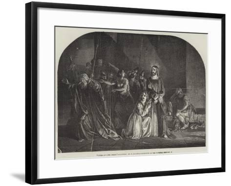 Peter Denying Christ, Exhibition of the National Institution--Framed Art Print