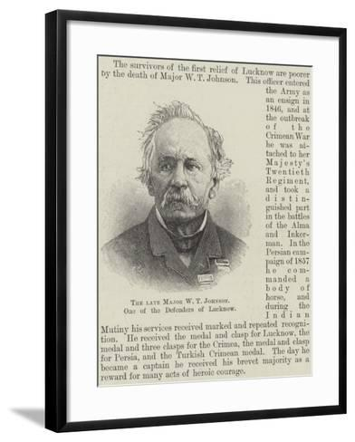 The Late Major W T Johnson, One of the Defenders of Lucknow--Framed Art Print