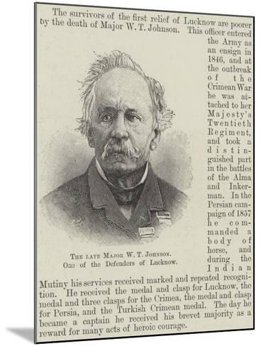 The Late Major W T Johnson, One of the Defenders of Lucknow--Mounted Giclee Print