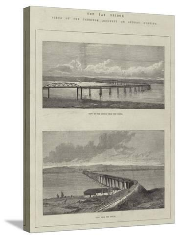 The Tay Bridge, Scene of the Terrible Accident on Sunday Evening--Stretched Canvas Print